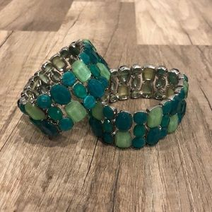 Cache stretch bracelets